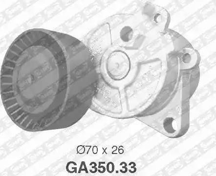 SNR GA350.33 - Poulie-tendeur, courroie trapézoïdale à nervures www.widencarpieces.com