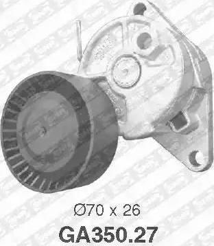 SNR GA350.27 - Poulie-tendeur, courroie trapézoïdale à nervures www.widencarpieces.com