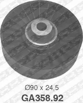 SNR GA358.92 - Poulie renvoi/transmission, courroie trapézoïdale à nervures www.widencarpieces.com