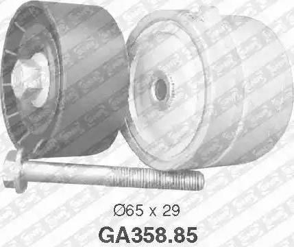 SNR GA358.85 - Poulie-tendeur, courroie trapézoïdale à nervures www.widencarpieces.com