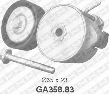 SNR GA358.83 - Poulie-tendeur, courroie trapézoïdale à nervures www.widencarpieces.com