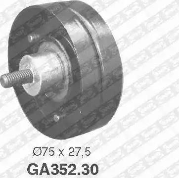 SNR GA352.30 - Poulie renvoi/transmission, courroie trapézoïdale à nervures www.widencarpieces.com