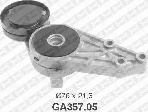 SNR GA357.05 - Poulie-tendeur, courroie trapézoïdale à nervures www.widencarpieces.com