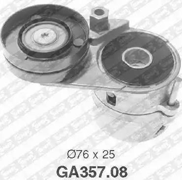 SNR GA357.08 - Poulie-tendeur, courroie trapézoïdale à nervures www.widencarpieces.com