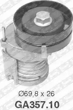 SNR GA357.10 - Poulie-tendeur, courroie trapézoïdale à nervures www.widencarpieces.com