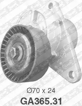 SNR GA365.31 - Poulie-tendeur, courroie trapézoïdale à nervures www.widencarpieces.com