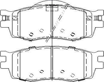 Starline BD S457 - Kit de plaquettes de frein, frein à disque www.widencarpieces.com
