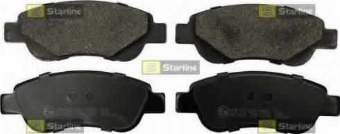 Starline BD S843P - Kit de plaquettes de frein, frein à disque www.widencarpieces.com