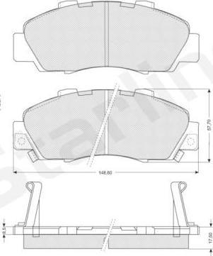 Starline BD S214 - Kit de plaquettes de frein, frein à disque www.widencarpieces.com