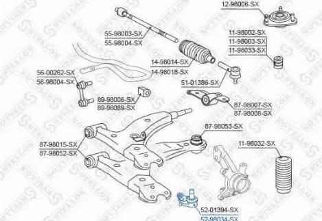 Stellox 52-98034-SX - Rotule de suspension www.widencarpieces.com