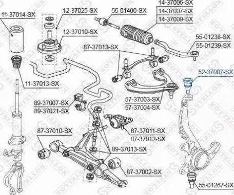 Stellox 52-37007-SX - Rotule de suspension www.widencarpieces.com