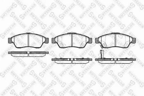 Stellox 886 001B-SX - Kit de plaquettes de frein, frein à disque www.widencarpieces.com