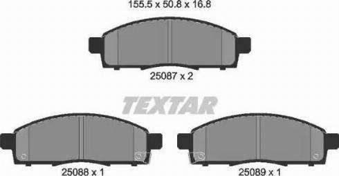 Textar 2508701 - Kit de plaquettes de frein, frein à disque www.widencarpieces.com