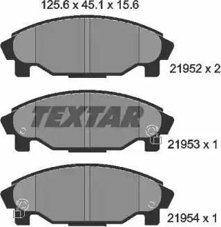 Textar 2195202 - Kit de plaquettes de frein, frein à disque www.widencarpieces.com