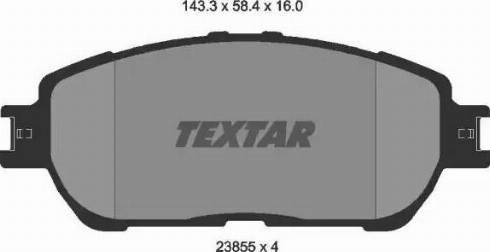 Textar 2385501 - Kit de plaquettes de frein, frein à disque www.widencarpieces.com