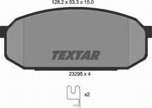 Textar 2329501 - Kit de plaquettes de frein, frein à disque www.widencarpieces.com