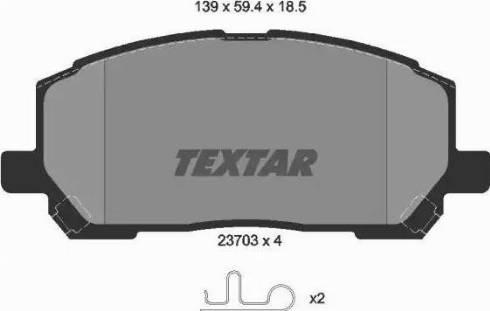 Textar 2370301 - Kit de plaquettes de frein, frein à disque www.widencarpieces.com