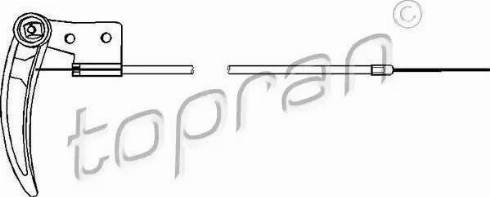 Topran 103414 - Tirette de capot moteur www.widencarpieces.com