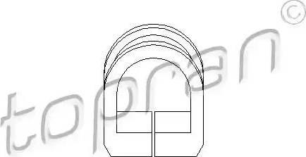 Topran 102803 - Suspension, crémaillière de direction www.widencarpieces.com