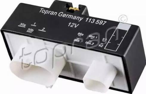 Topran 113597 - Commande, ventilateur électrique (refroidissement du moteur) www.widencarpieces.com
