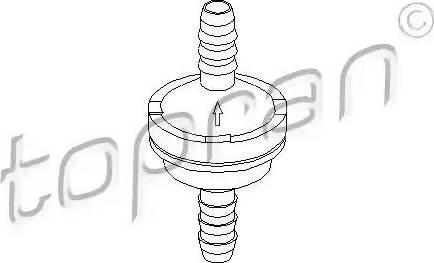 Topran 206111 - Soupape, dispositif d'assistance de frein www.widencarpieces.com