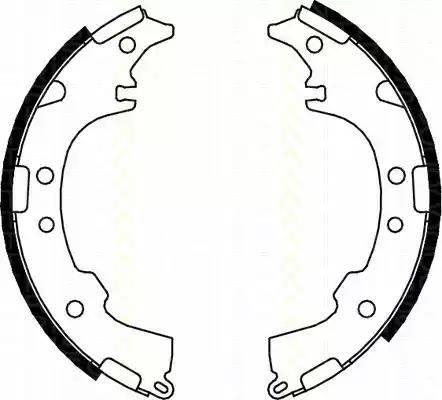 Triscan 8100 13601 - Jeu de freins, freins à tambour www.widencarpieces.com