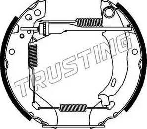 Trusting 602.0 - Jeu de freins, freins à tambour www.widencarpieces.com