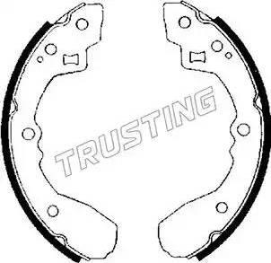 Trusting 049.122 - Jeu de freins, freins à tambour www.widencarpieces.com
