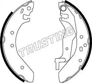 Trusting 007.017 - Jeu de freins, freins à tambour www.widencarpieces.com