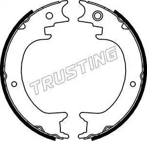 Trusting 110.339 - Jeu de mâchoires de frein, frein de stationnement www.widencarpieces.com