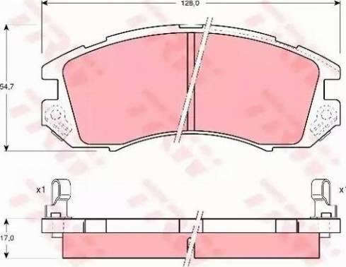 TRW GDB989 - Kit de plaquettes de frein, frein à disque www.widencarpieces.com