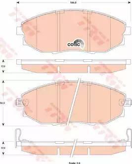 TRW GDB4179 - Kit de plaquettes de frein, frein à disque www.widencarpieces.com