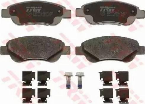 TRW GDB1633 - Kit de plaquettes de frein, frein à disque www.widencarpieces.com