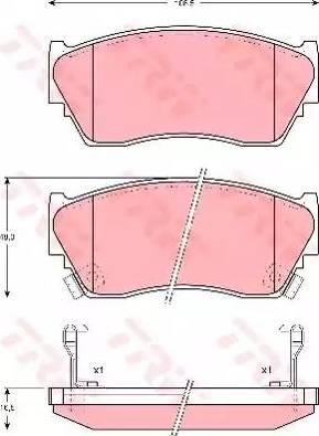 TRW GDB1012 - Kit de plaquettes de frein, frein à disque www.widencarpieces.com