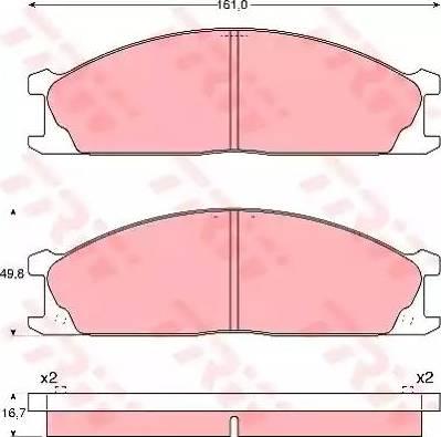 TRW GDB1017 - Kit de plaquettes de frein, frein à disque www.widencarpieces.com