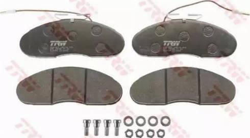 TRW GDB1077 - Kit de plaquettes de frein, frein à disque www.widencarpieces.com
