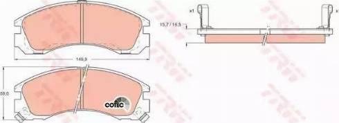 TRW GDB1126 - Kit de plaquettes de frein, frein à disque www.widencarpieces.com