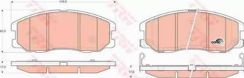 TRW GDB1715 - Kit de plaquettes de frein, frein à disque www.widencarpieces.com