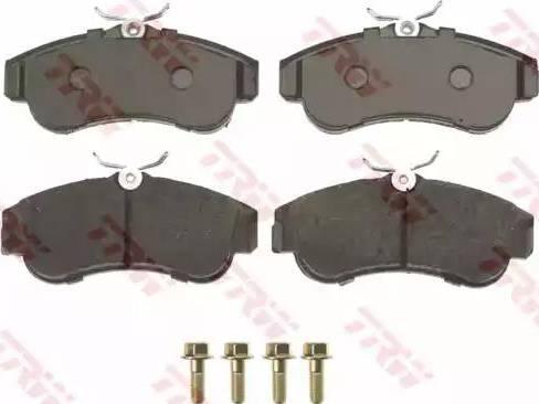 TRW GDB848 - Kit de plaquettes de frein, frein à disque www.widencarpieces.com