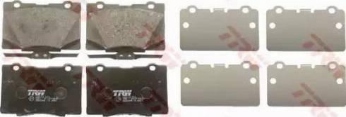 TRW GDB3498 - Kit de plaquettes de frein, frein à disque www.widencarpieces.com