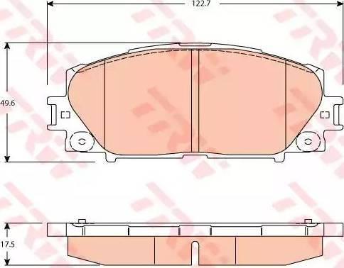 TRW GDB3459 - Kit de plaquettes de frein, frein à disque www.widencarpieces.com