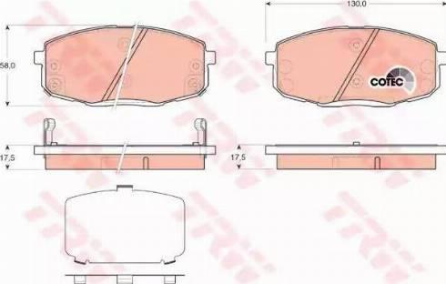 TRW GDB3450 - Kit de plaquettes de frein, frein à disque www.widencarpieces.com