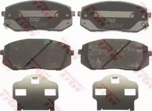 TRW GDB3461 - Kit de plaquettes de frein, frein à disque www.widencarpieces.com