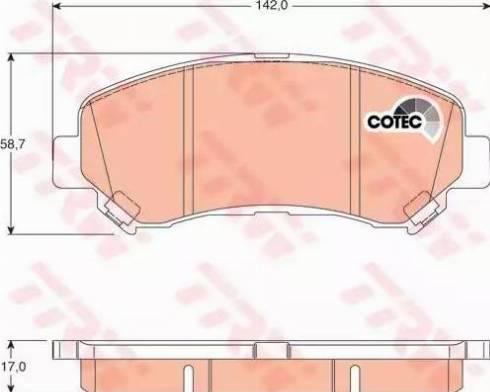 TRW GDB3467 - Kit de plaquettes de frein, frein à disque www.widencarpieces.com