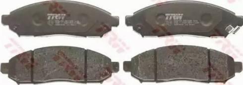 TRW GDB3404 - Kit de plaquettes de frein, frein à disque www.widencarpieces.com