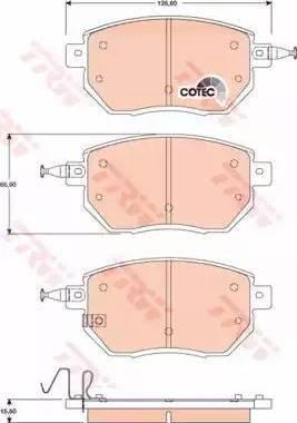 TRW GDB3416 - Kit de plaquettes de frein, frein à disque www.widencarpieces.com