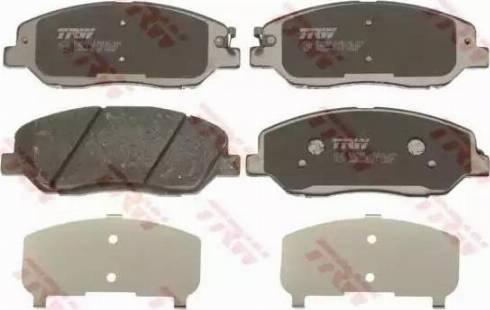 TRW GDB3418 - Kit de plaquettes de frein, frein à disque www.widencarpieces.com