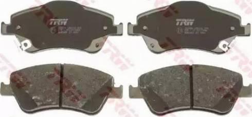 TRW GDB3481 - Kit de plaquettes de frein, frein à disque www.widencarpieces.com