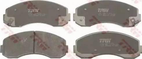 TRW GDB3434 - Kit de plaquettes de frein, frein à disque www.widencarpieces.com