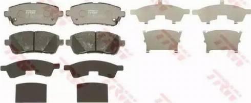 TRW GDB3437 - Kit de plaquettes de frein, frein à disque www.widencarpieces.com